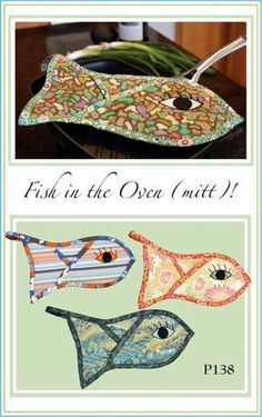 Fish In the Oven Mitt Pattern by Vanilla House by melismelos