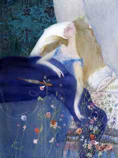 Sleeping Beauty ~ artist Nadezhda Illarionova, Dark Fairy Tale Illustrations series #art #illustration