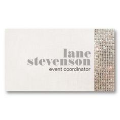 Stylish subtle bokeh white stripes event planner business card event and entertainment planner sequins business card templates colourmoves
