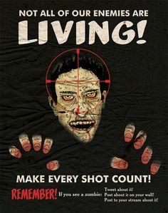 Zombie Propaganda Poster by justonescarf design