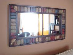 distressed painted wood mosaic mirror