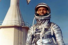 Scott Carpenter, the second U.S. astronaut to orbit the earth, dies on October 10, 2013 at 88. One of the original Mercury 7 (John Glenn is now the last surviving member of the group), Carpenter wears his his Mercury spacesuit in this 1962 photo.