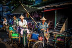 Rickshaw Drivers in Sittwe by Paul Ratje