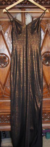 Future-Ozbek-designer-robe-pointure-8-marron-or-liberty