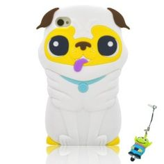 Amazon.com: I Need (TM) Cute 3D White Pekingese Dog Soft Silicone Case Cover Compatible For iPhone 4 4s 4G With 3D Alien Stylus Pen: Electronics