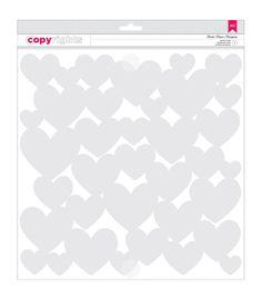 American Crafts Hearts - Copyrights Stencil 12 in