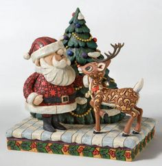 jim shore rudolph | Santa & Rudolph Figurine - Jim Shore Rudolph's Christmas Treasures ...
