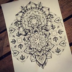 Tattoo by miss sita  Mandala pattern dotwork flash Tattoo