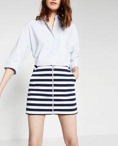 blue lines skirt