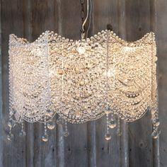 crystal beaded chandelier - soo pretty