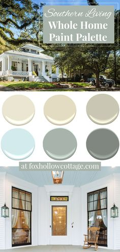 Tour a vintage Southern home after it's refreshed and revived, and get the skinny on the whole home paint color palette that was used throughout—for a fresh, timeless feel in every room! #interiorpaint #interiorpaintideas #paintcolorpalette