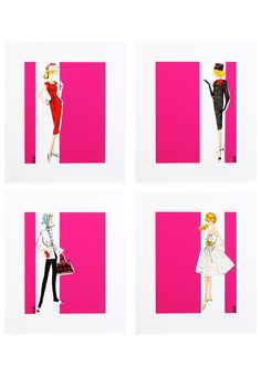 My perfect craft room would not be complete without these awesome Barbie Art Prints - Set of 4 | Barbie Collector