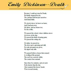 Because I Could Not Stop For Death by Emily Dickinson by JIMBO 105, via Flick. One of my favorite poems!!