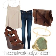 """""""Summer Evening Outfit"""" by theccnetwork on Polyvore"""