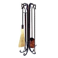 This classic UniFlame fireplace tool set, by Blue Rhino, has all the tools you need to tend to a roaring fire. Its popular antique copper finish and timeless styling will accent a variety of decor.