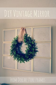 """I adore """"Vintage"""" mirrors that have the mercury glass look. The only problem is these mirrors are so pricey. I saw a great tutorial H..."""