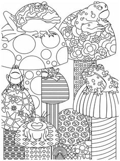 Coloring Pages For Children By Dover Publications Garden Party Flower Designs To Color