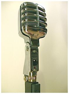 Electro-Voice Model 911 Mercury general purpose, omnidirectional, crystal microphone. Circa 1950 and sold for around $23.00 then. Recent winning bids went for around $105.00 (photo by Ron Sunshine). Mine is not in quite as good a condition, due the pitted finish.