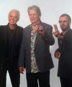 3 Legends: Brian Wilson, Jimmy Page & Ringo Starr. (From my friend Frank S.)