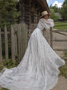 Wedding dress FILATA in natural silk with full sleeves and   Etsy Ball Dresses, Ball Gowns, Pretty Dresses, Beautiful Dresses, Beauty Fotos, Fairytale Dress, Cecile, Fantasy Dress, Best Wedding Dresses
