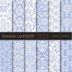 Damask Lavender Digital Paper Pack