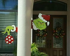 Check out our grinch yard art selection for the very best in unique or custom, handmade pieces from our garden decoration shops. Grinch Christmas Decorations, Whoville Christmas, Christmas Yard Art, Christmas Mom, Christmas Items, Outdoor Christmas, Etsy Christmas, Holiday Crafts, Holiday Decor