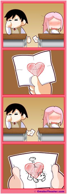 How cute... just like an Asian junior high... oh well... Awesome 4 panel comic (yonkoma/4-koma) strip :)