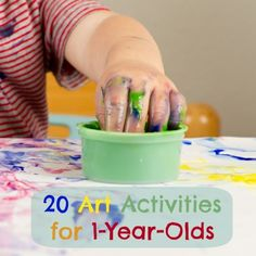20 Easy Art Activities For Your 1-Year-Old Even 1-year-olds can have fun exploring art !