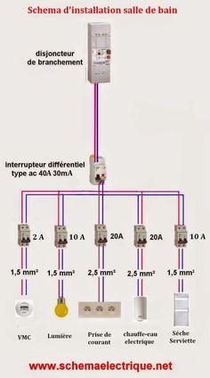 Schemas Electriques Gratuit Avec Les Plans De Cablage,raccordement  Branchement Maison Et Industriel Avec Des Installation Electriques Et  Circuit Au Norme
