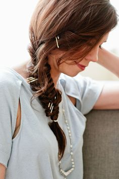 How To Use Bobby Pins to Update Your Coachella Fishtail Braid | Beauty High