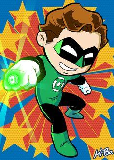 Super Powers Green Lantern Hal Jordan Art Card by kevinbolk.deviantart.com on @deviantART
