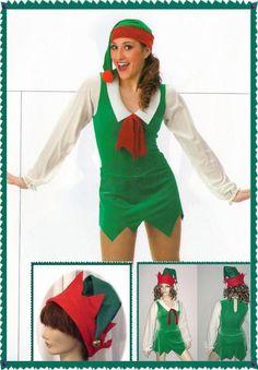 a4fa1174c Santa's Helper Dance Costume Biketard Christmas Green Elf with Hat Child  Sizes | eBay