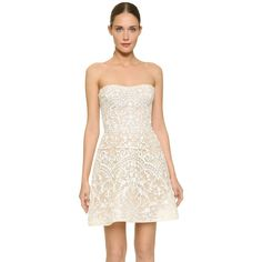 Monique Lhuillier Strapless Embroidered Cocktail Dress, Blush In Silk White/nude White Sparkly Dress, Short Sparkly Dresses, White Mesh Dress, Sparkly Cocktail Dress, White Embroidered Dress, White Strapless Dress, Strapless Cocktail Dresses, Bridal Dresses, Evening Dresses