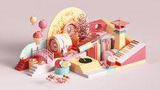 Apple Chinese New Year commercial ad adobe geometry colors ui abstract geometric animation cgi set render design illustration ios appstore apple 3d Cinema, Maxon Cinema 4d, 3d Design, Game Design, Render Design, Graphic Design, Chinese New Year Design, Chinese Style, New Year Designs