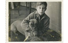A picture of the author of my favorite book, Winter's Tale in the 1950s. Good to know Mark Helprin is a dog fan as well.