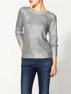 Spot the Real: MICHAEL Michael Kors Metallic Sweater - The Budget Babe