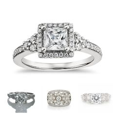 Vintage Style Bridal Ring Sets