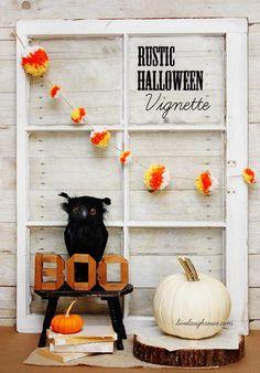 DIY Halloween : DIY Rustic Halloween Vignette