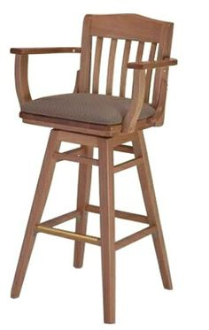 Schoolhouse Swivel Barstool with Arms