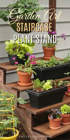 Diy Plant Stand Using Stair Stringers For The Sides With