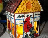 Lenox Winter Greetings By Catherine Mc Clung Cardinal Birdhouse Votive / Tea Light Candle Holder