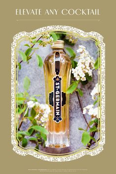 Buy Now From Drizly! Step 1 of making a St~Germain Spritz, grab the St~Germain. Step parts ST~GERMAIN® Elderflower Liqueur Step 2 parts MARTINI & ROSSI® Prosecco Step 2 parts Sparkling Water Combine, stir, serve over ice. Garnish with a lemon twist! Elderflower Liqueur Recipe, St Germain Liqueur, Fruits And Vegetables List, Vegetable Chart, Fruits Basket Anime, Fruit In Season, Prosecco, Keto Recipes, Dessert Recipes