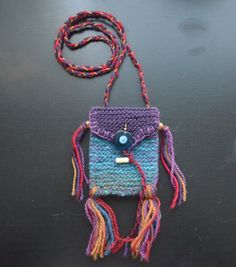 Knit amulet bag - Perfect for charms or stones, this wool bag is good for all sorts of trinkets. Keep charms of protection or items of power within its contents.