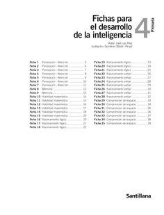 fichas-para-desarrollo-de-la-inteligencia-4-primaria-16282077 by ceippadremanjonbenahadux via Slideshare
