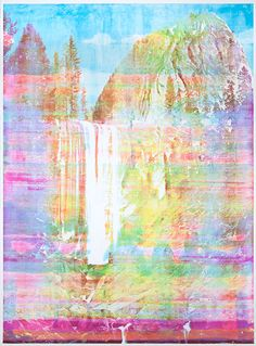 Matthew brandt, from his series taste tests in color.  Uses edible color on his prints.