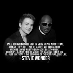 OHMIGOSH!!!! Two of my favorite singers in one pic? LOVE IT!! So glad to hear Stevie say that about Hunter!!