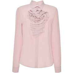 Ruffle Long Sleeve Blouse Blumarine Collections Cheap Online Looking For Cheap Online Get Authentic For Sale Popular Sale Online Sale 9DR07llsW