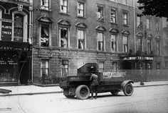 A Rolls Royce armoured car patrolling O'Connell St in Dublin during the Irish Civil War. Get premium, high resolution news photos at Getty Images Army Vehicles, Armored Vehicles, Old Pictures, Old Photos, Dublin Ireland, Rolls Royce, Continents, Irish, Easter Rising