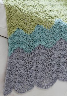 FREE CROCHET PATTERN: Antigua Ripple Throw Afghan. From naturallycaron.com