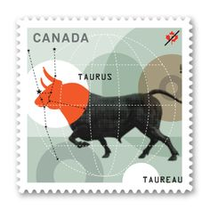 Signs of the Zodiac: Taurus stamp